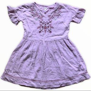 Gymboree lavender gauze embroidered dress size 10